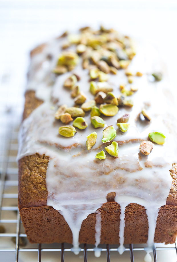 Gluten-free Pistachio Cake- a whole grain cake made with ground pistachios and a touch of almond extract. No pudding mix needed, just all-natural goodness! (gluten-free, dairy-free, and refined sugar-free)