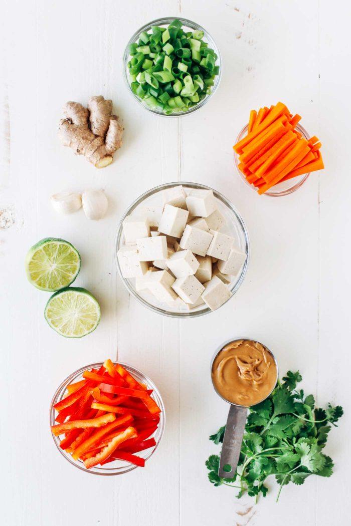 Baked Thai Tofu Lettuce Wraps