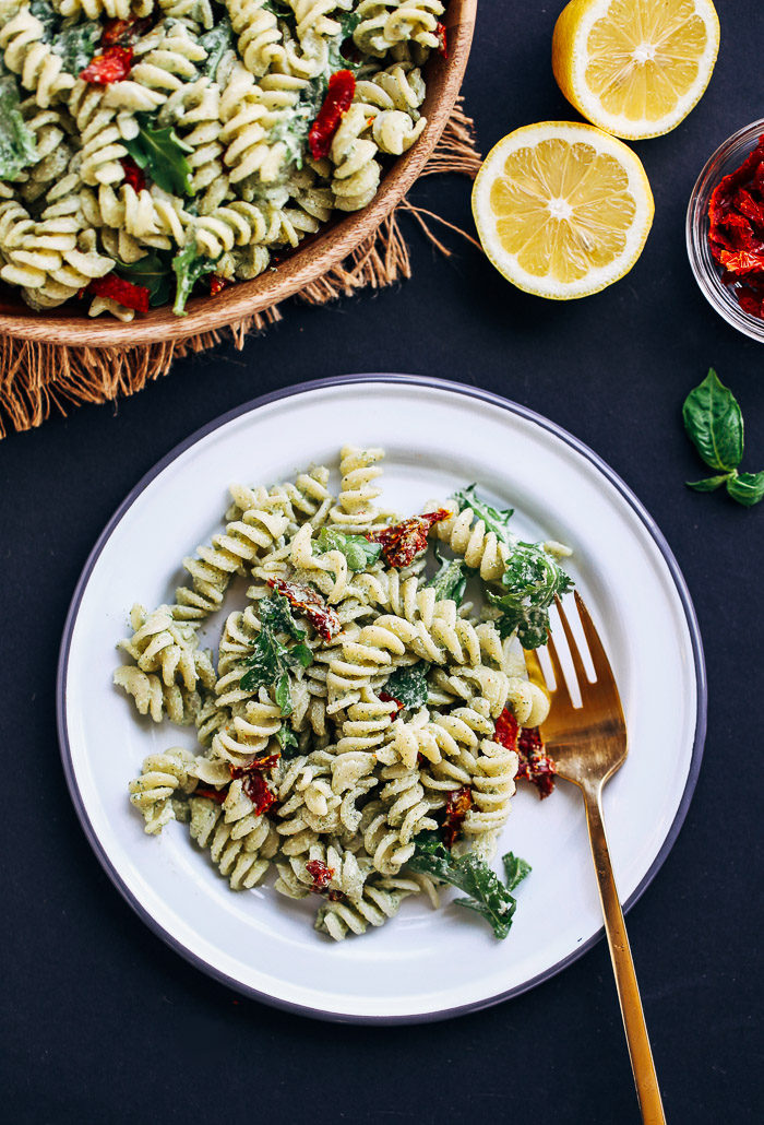 Creamy Hemp Pesto Pasta Salad | Making Thyme for Health
