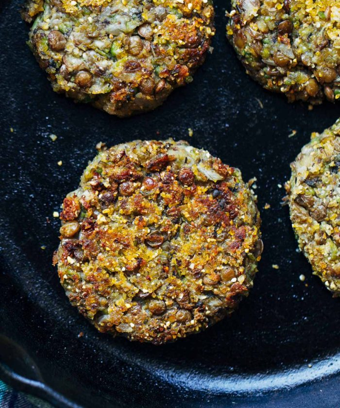 Lentil Pea Burgers with Lemon Basil Mayo (vegan + gluten-free) | Making Thyme for Health