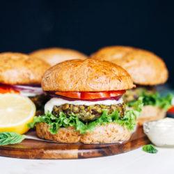 Lentil Pea Burgers_