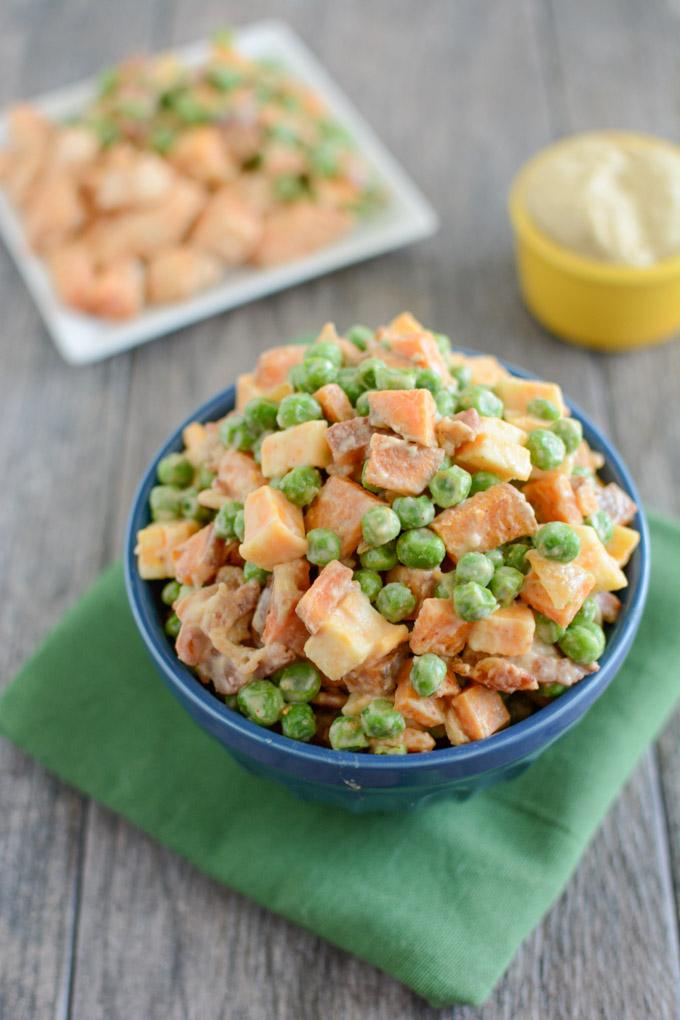 Pea Salad with Sweet Potatoes 2