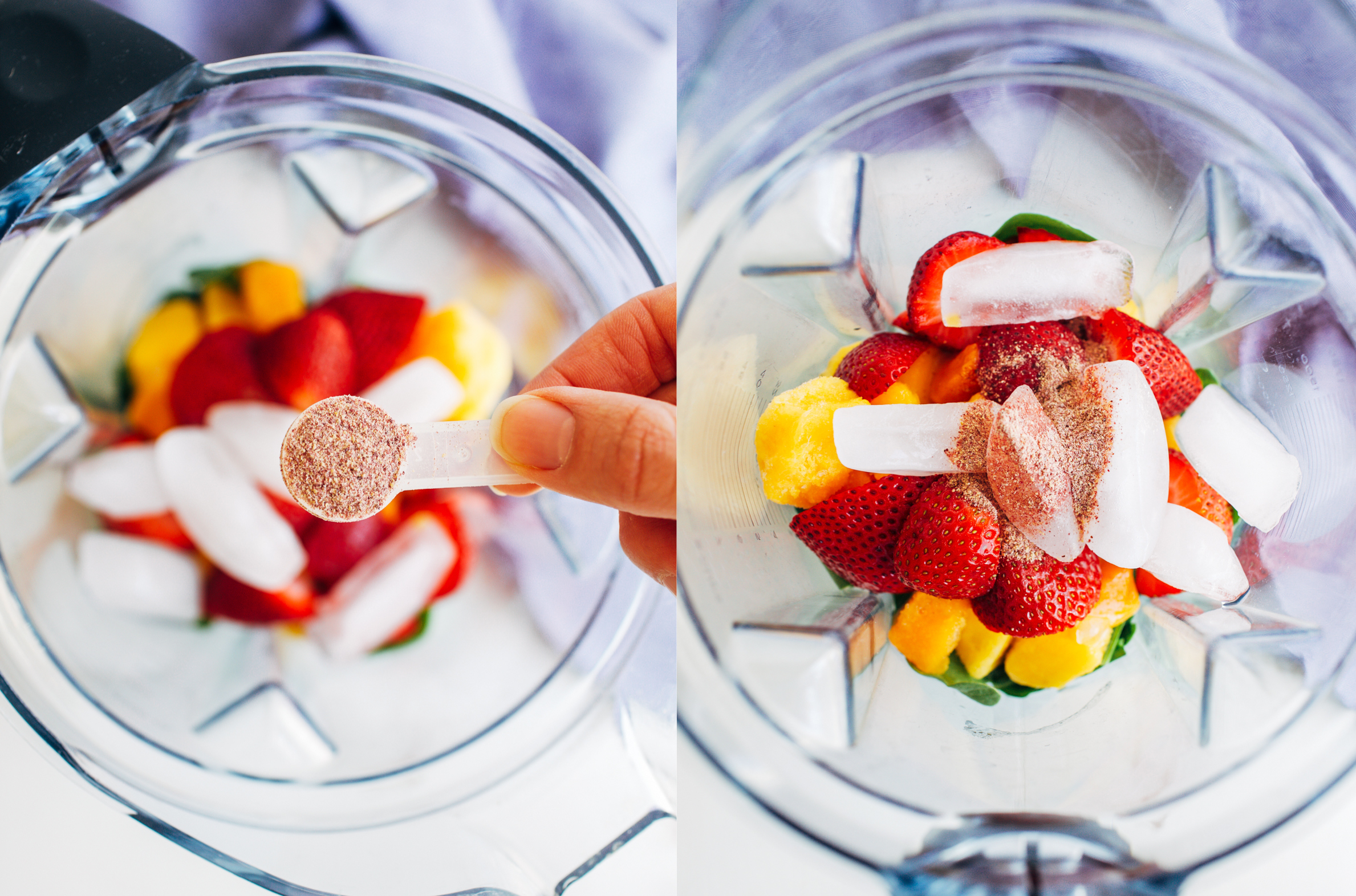 how to make a strawberry smoothie using frozen strawberries