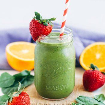 Strawberry Mango Spinach Smoothie  2