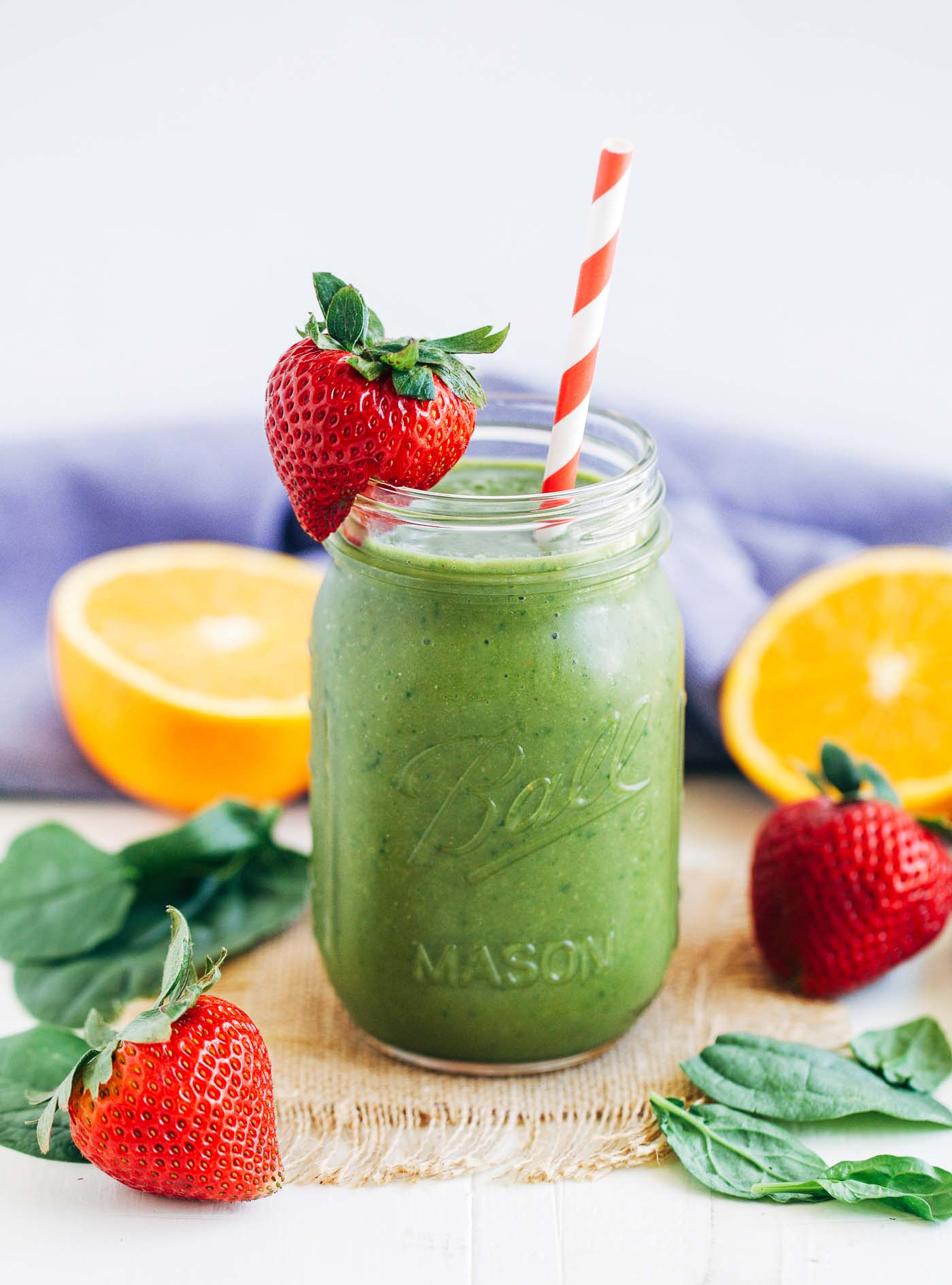 Strawberry Mango Spinach Smoothie