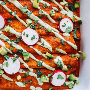 Swiss Chard Mushroom Enchiladas   13