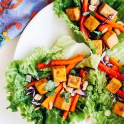 baked tofu lettuce wraps 23