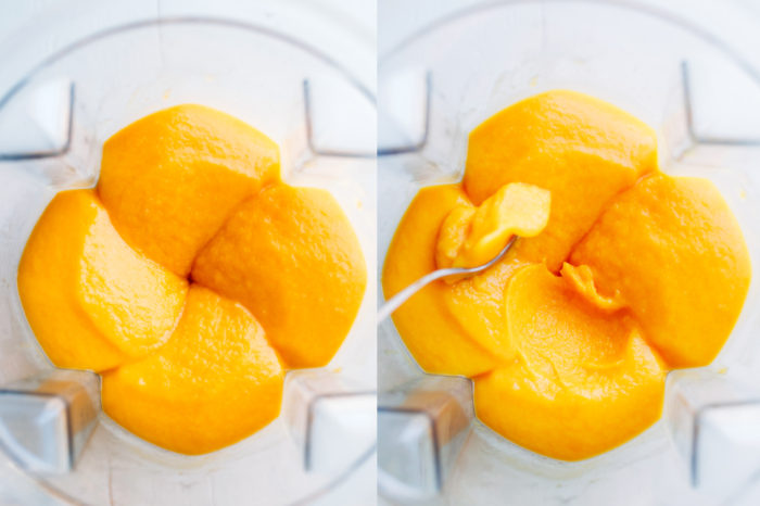 Mango Turmeric Sorbet- just 3 simple ingredients for this healthy and refreshing treat! | Making Thyme for Health