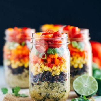 Southwestern Quinoa Salad Jar