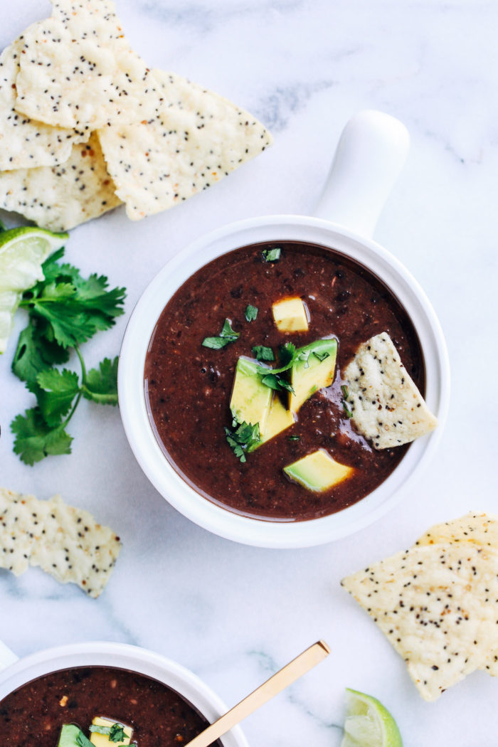 5-Ingredient Black Bean Soup - Making Thyme for Health