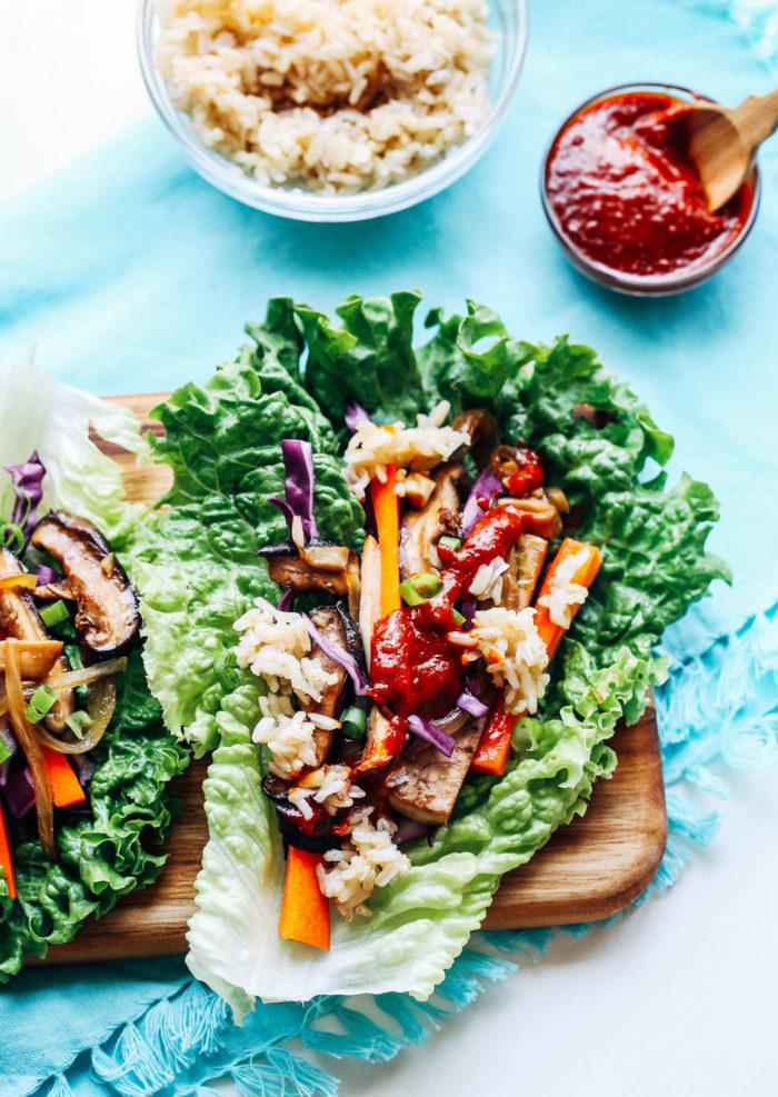 Vegan Bulgogi Lettuce Wraps