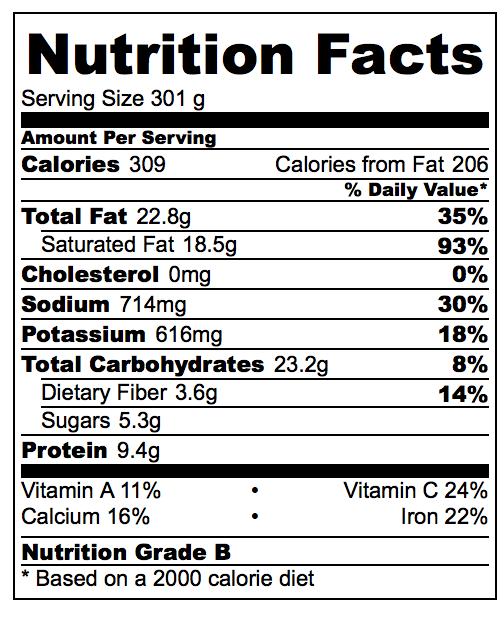Vegan Tom Kaa Gai Nutrition Facts