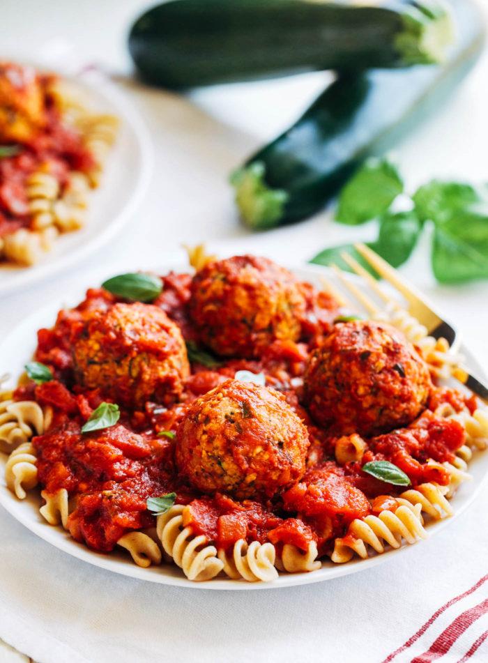 "Vegan Zucchini ""Meatballs"""