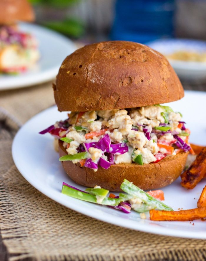 Asian Tofu Salad Sandwiches from She Likes Food