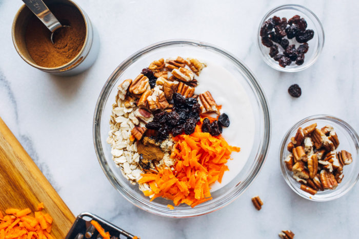 Overnight Carrot Cake Chia Seed Oats