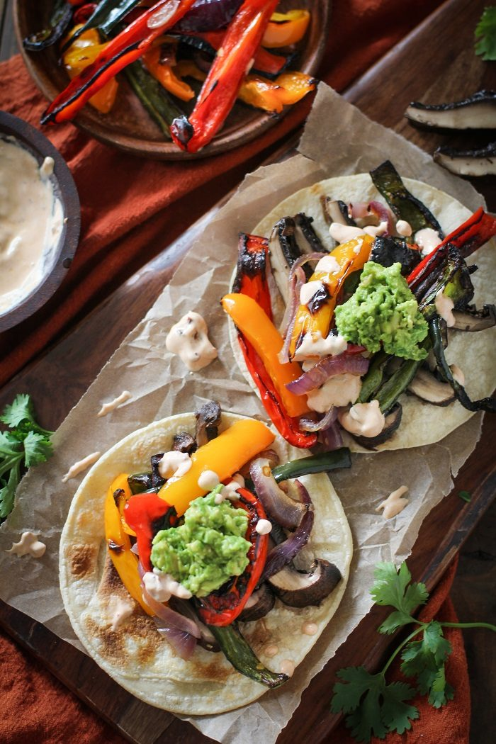 Roasted Portobello Fajitas from The Roasted Root