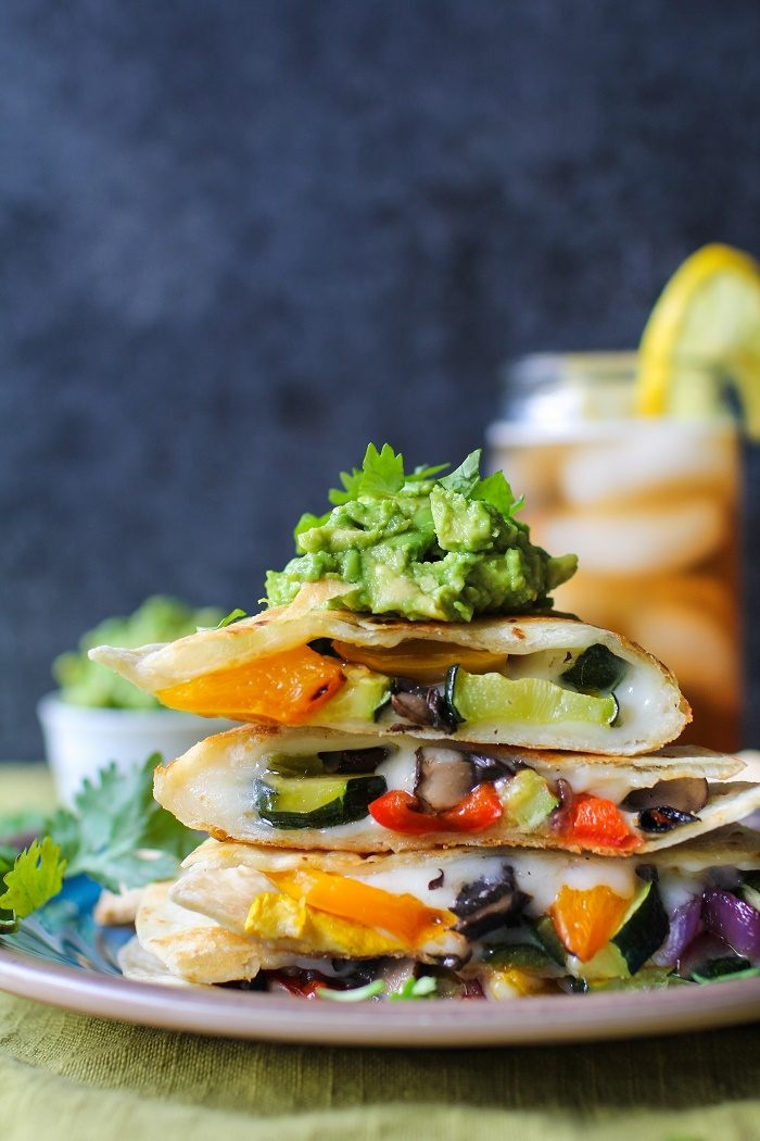 Grilled Portobello Mushroom & Summer Squash Quesadillas from The Roasted Root