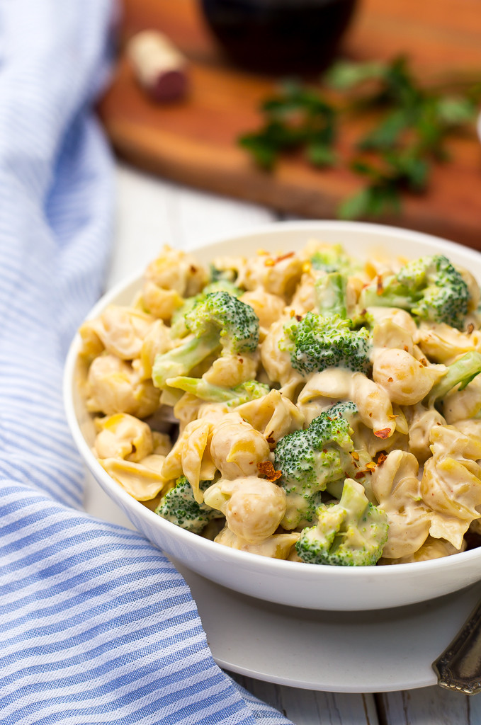 Cashew Alfredo Pasta with Broccoli from She Likes Food