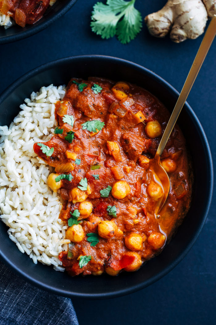 One Pot Chickpea Tiki Masala from Making Thyme for Health