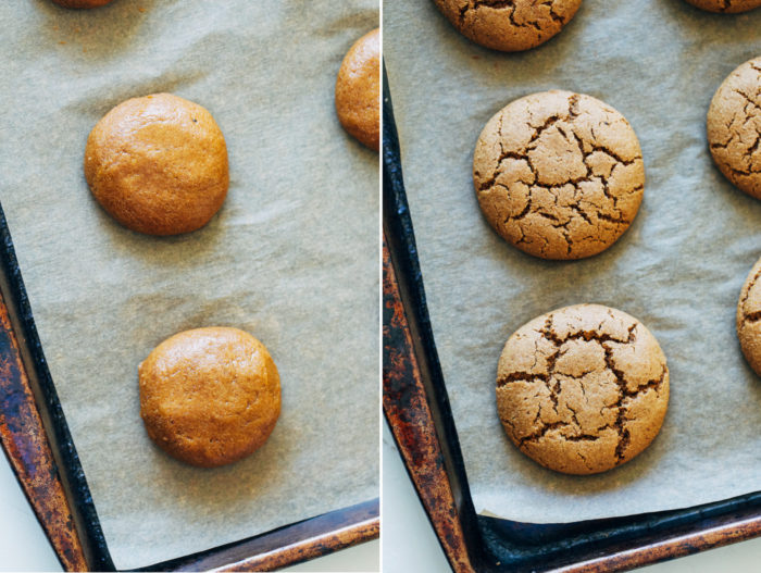 Vegan Pumpkin Spice Cookies with Vanilla Maple Glaze