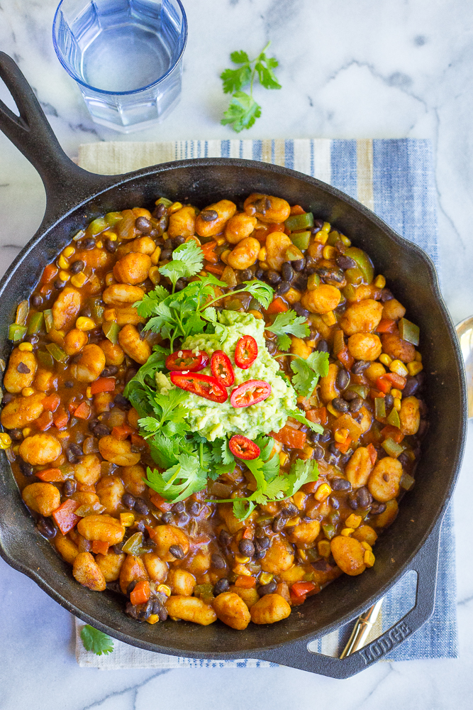 30-Minute Gnocchi Enchilada Skillet from She Likes Food