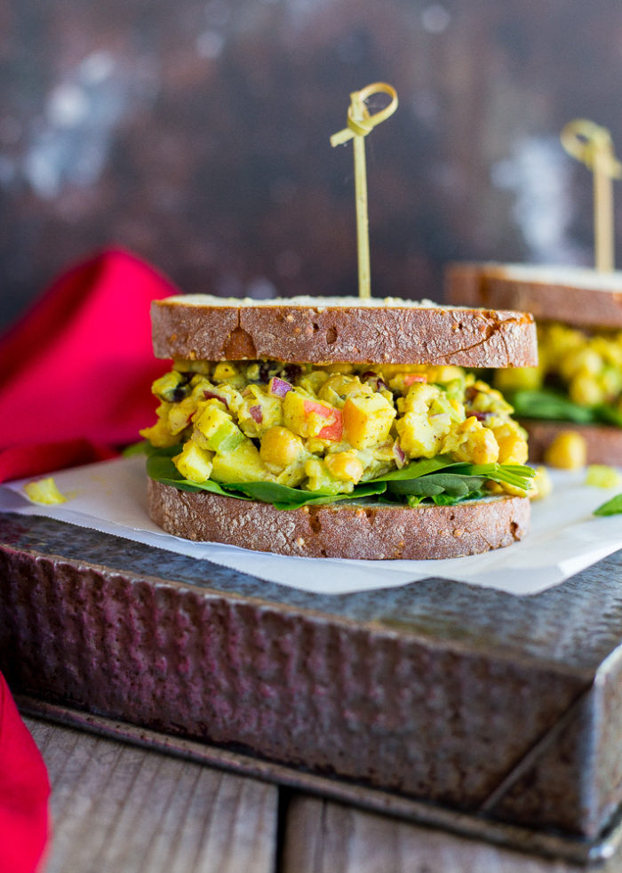 Curried Chickpea Salad Sandwiches from She Likes Food