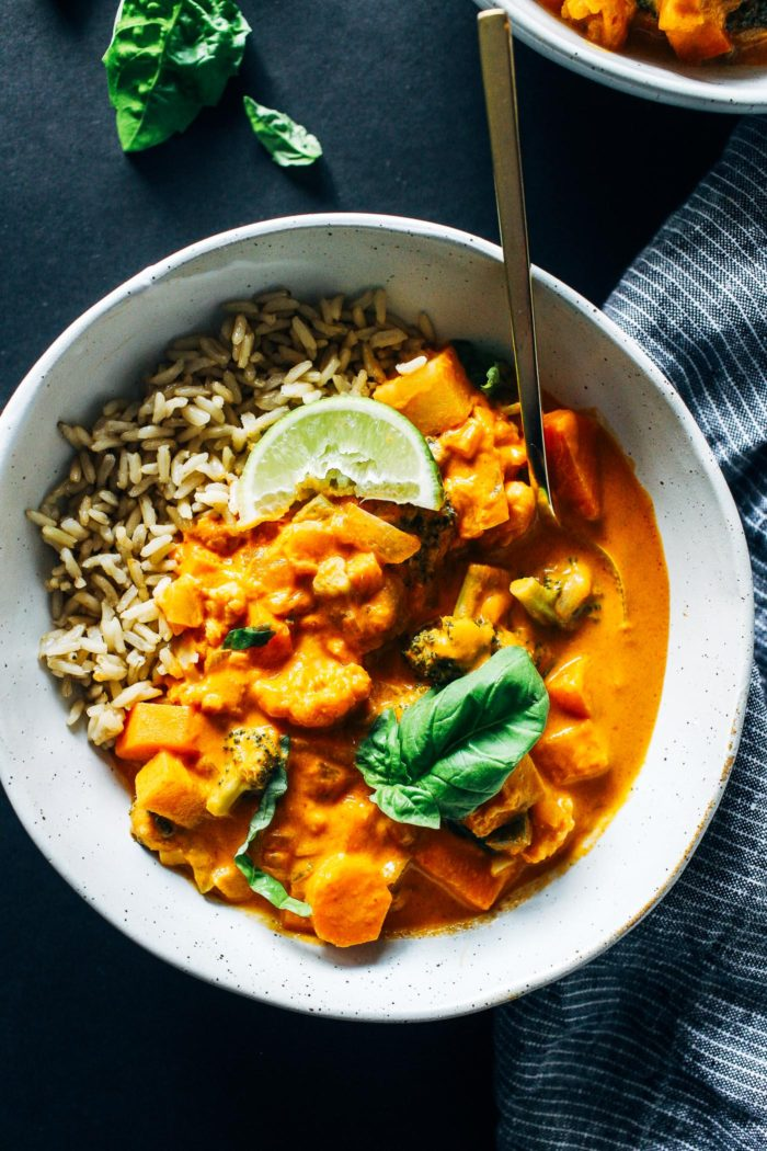 One-Pot Vegetable Thai Red Curry from Making Thyme for Health