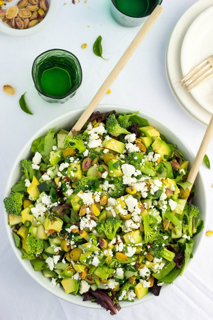 The Greenest Chopped Salad from She Likes Food