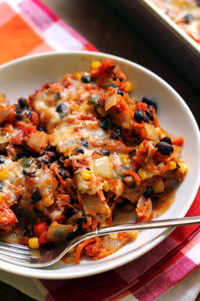 Vegetarian Carrot Enchilada Bake from Eats Well With Others