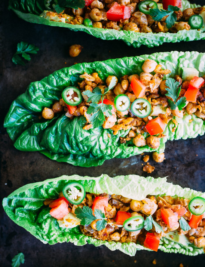 Healthy Taco Chickpea Lettuce Wraps from She Likes Food