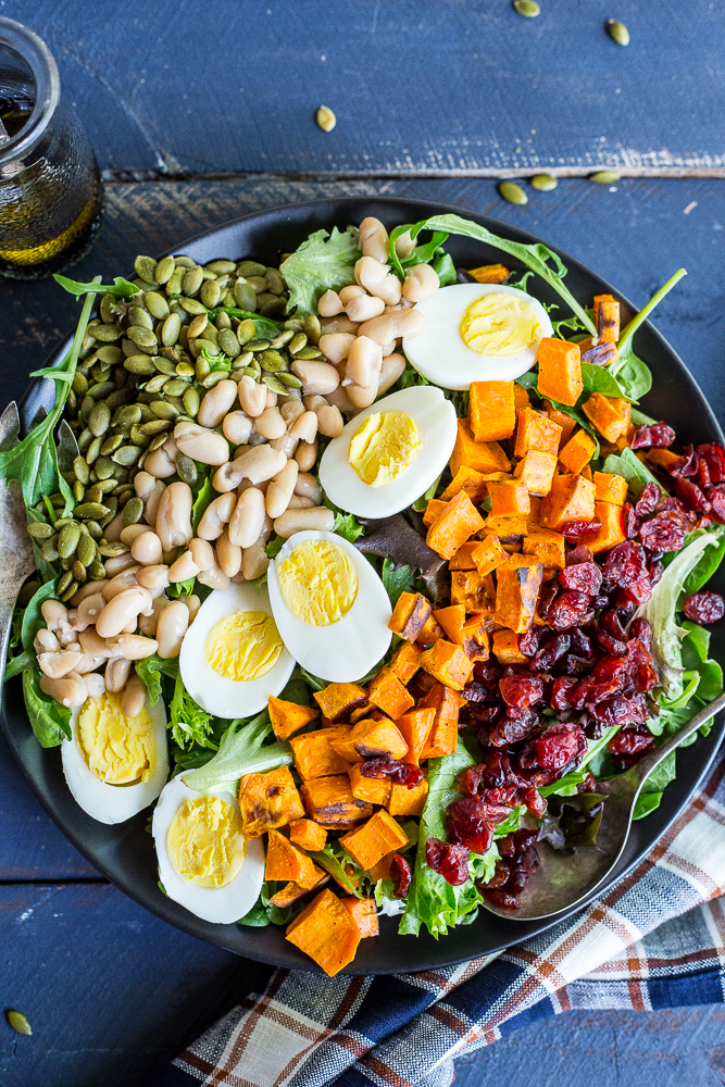 Vegetarian Cobb Salad from She Likes Food