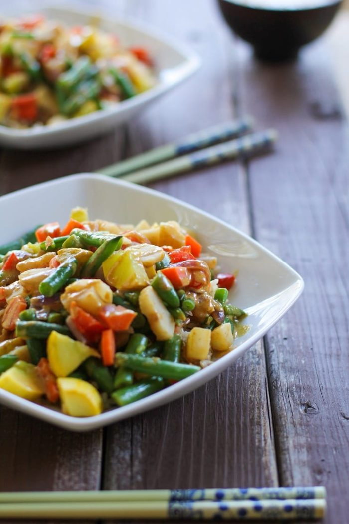 Vegetable Stir Fry with Thai Peanut Sauce from The Roasted Root