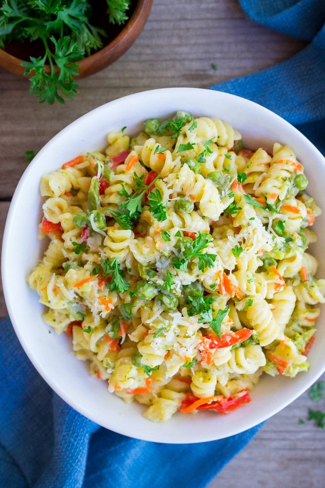 Easy One Pot Pasta Primavera from She Likes Food