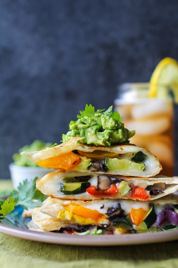 Grilled Portobello and Summer Squash Quesadillas from The Roasted Root