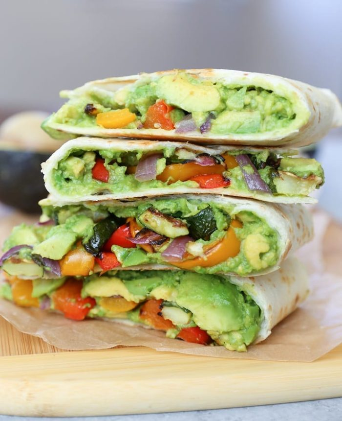 Grilled Vegetable Avocado Quesadillas with Chipotle Cashew Cream from The Roasted Root