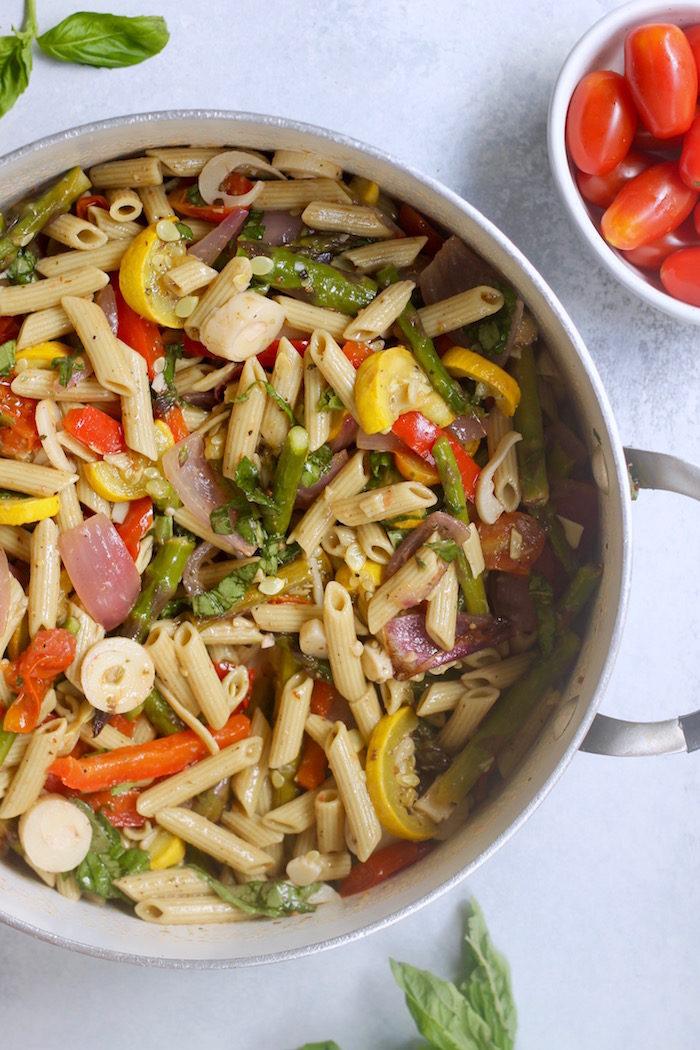 Roasted Veggie Pasta Saladfrom Hummusapien