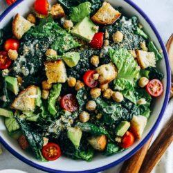 The Best Vegan Kale Caesar Salad Making Thyme For Health