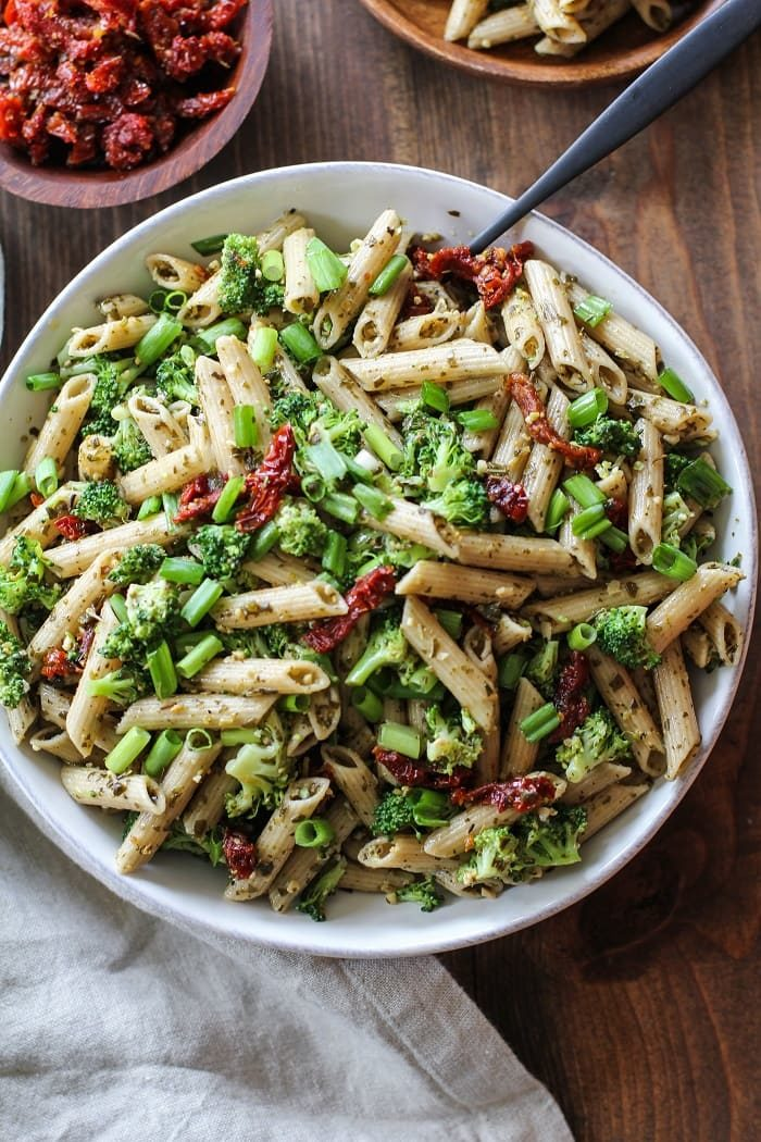 Kale Pesto Pasta Salad from The Roasted Root