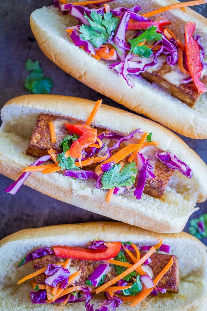 Smoky Homemade Veggie Dogs from She Likes Food