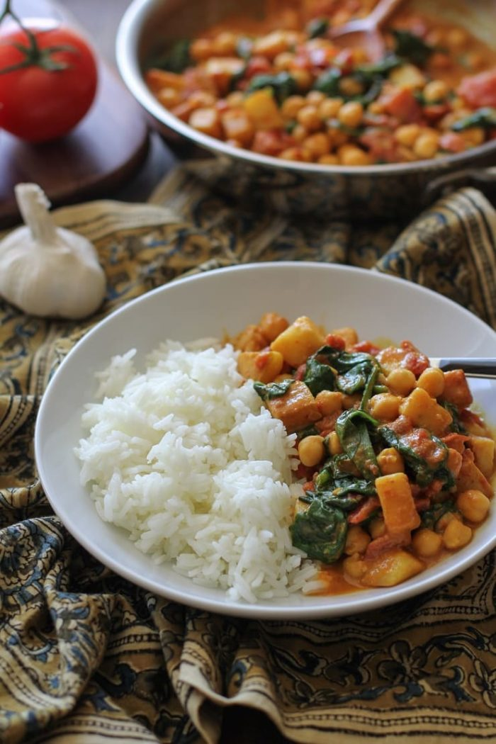 Quick and Easy Chana Saag from The Roasted Root