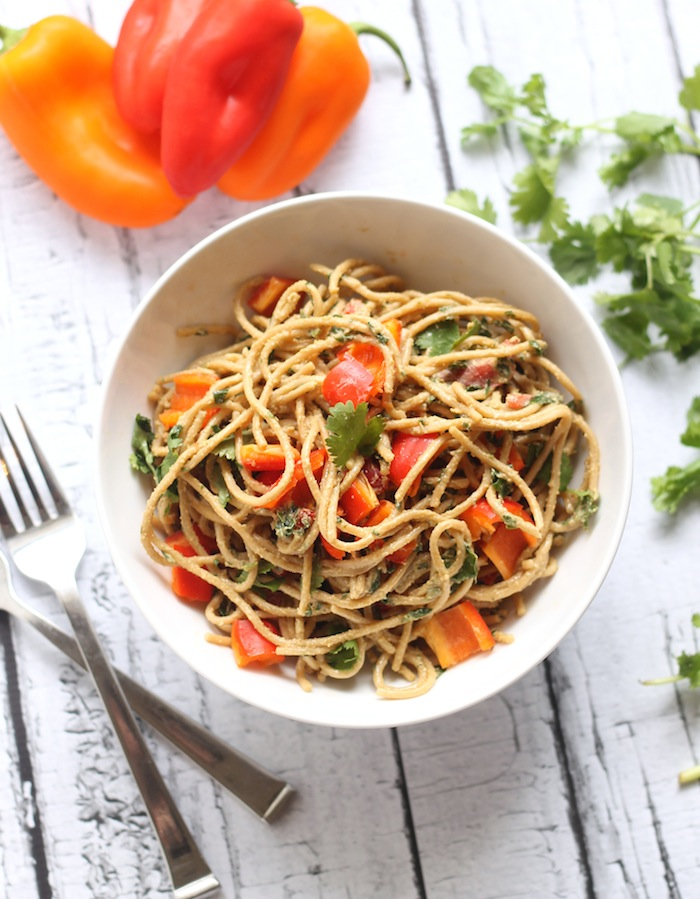 Asian Peanut Noodles from Hummusapien