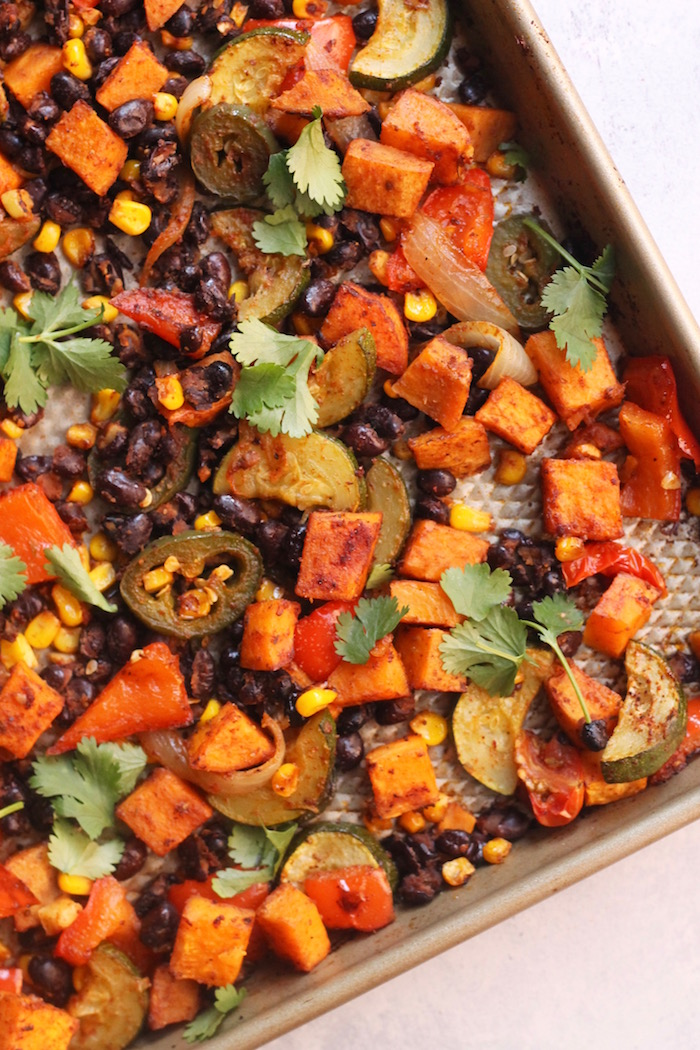 Sheet Pan Mexican Veggie Dinner from Hummuspien