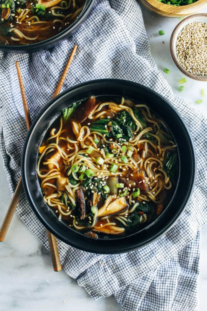 Easy Mushroom Ramen from Making Thyme for Health