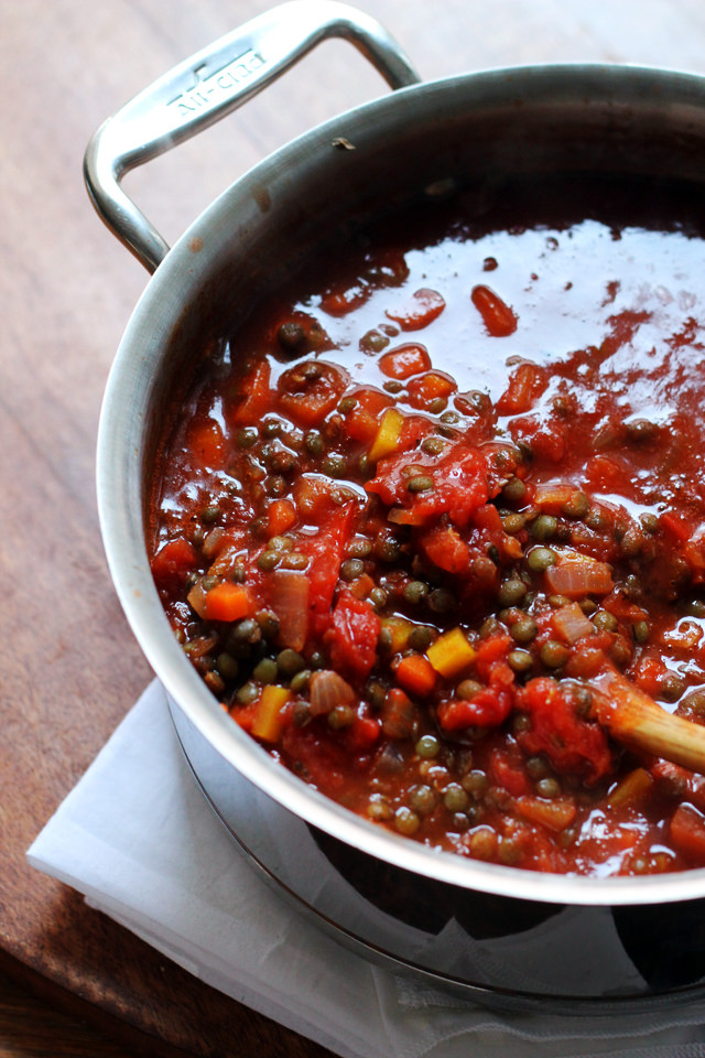 Spaghetti with Vegetarian Lentil Bolognese from Eats Well With Others