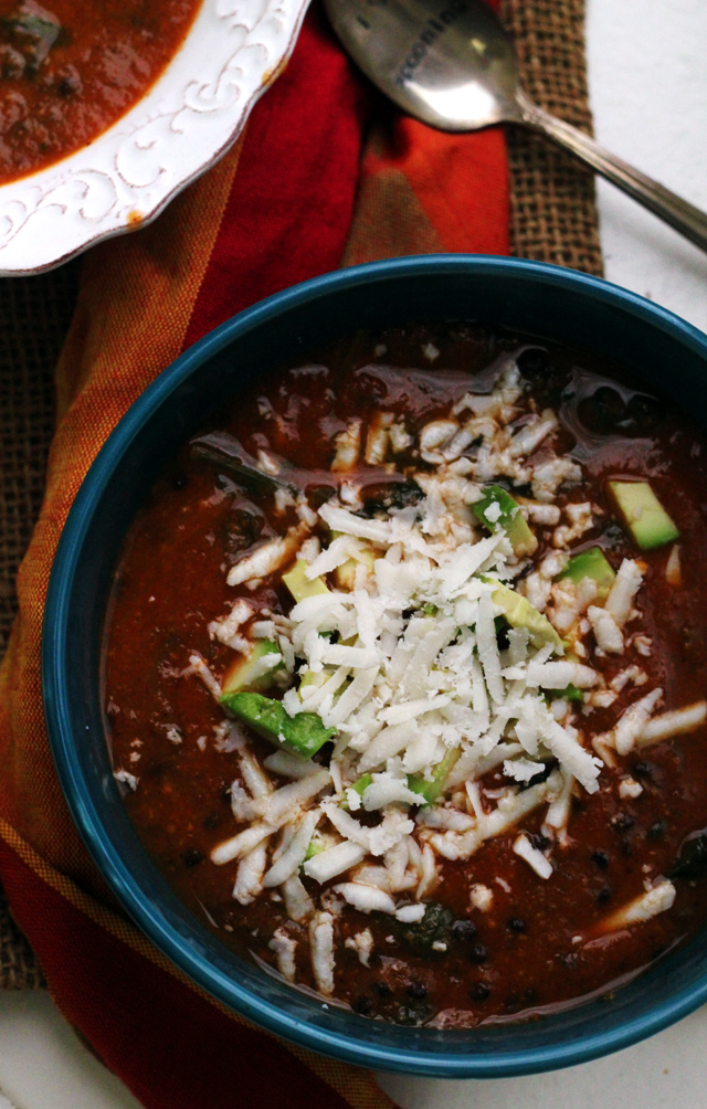 Sweet Potato Lentil Tortilla Soup from Eats Well With Others