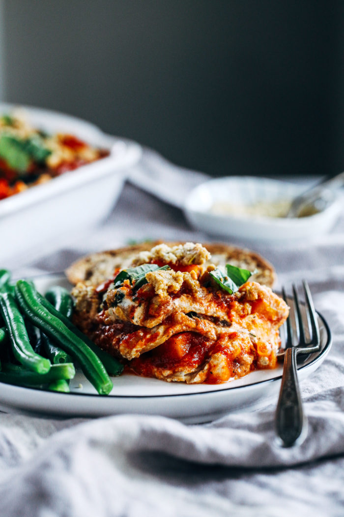 Butternut Squash Kale Lasagna from Making Thyme for Health