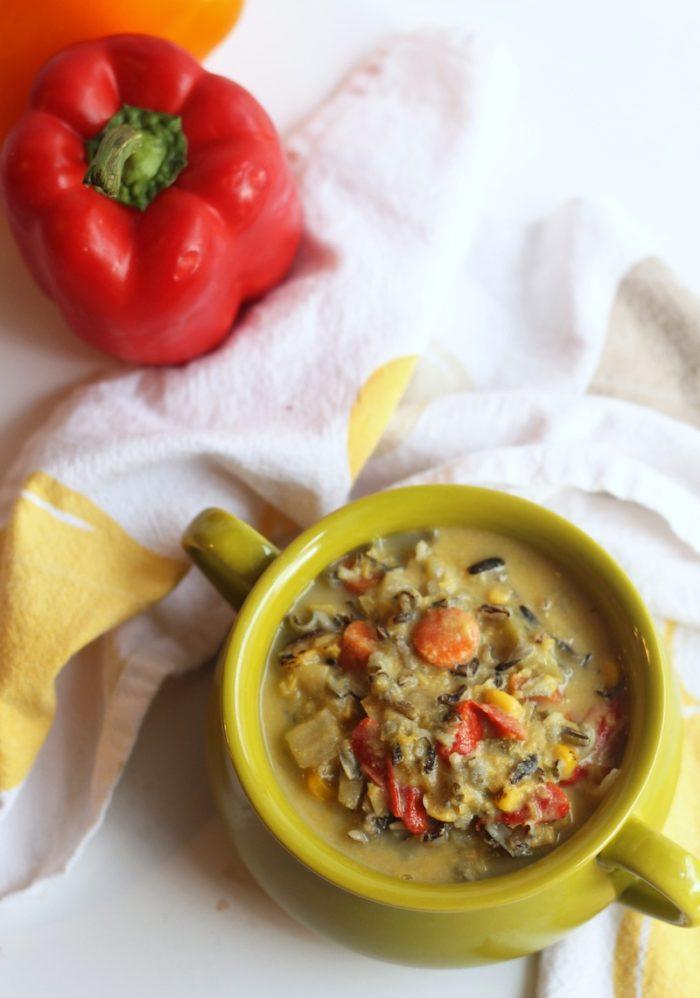 Vegan Corn & Wild Rice Chowderfrom Hummusapien