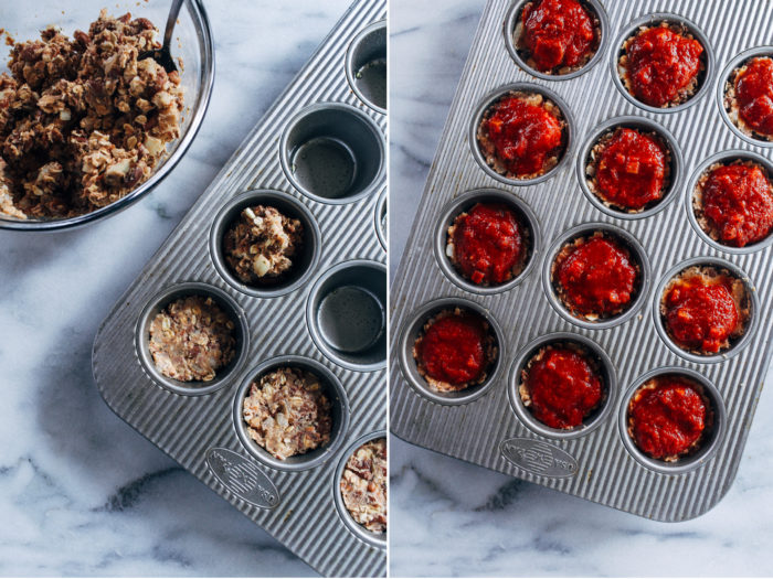Vegan Italian Meatloaf Cups- made with marinara and Italian herbs, these little cups are packed full of plant protein and are super easy to make! (vegan + gluten-free)