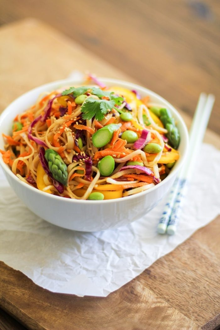 Spring Vegetable Pad Thai from The Roasted Root