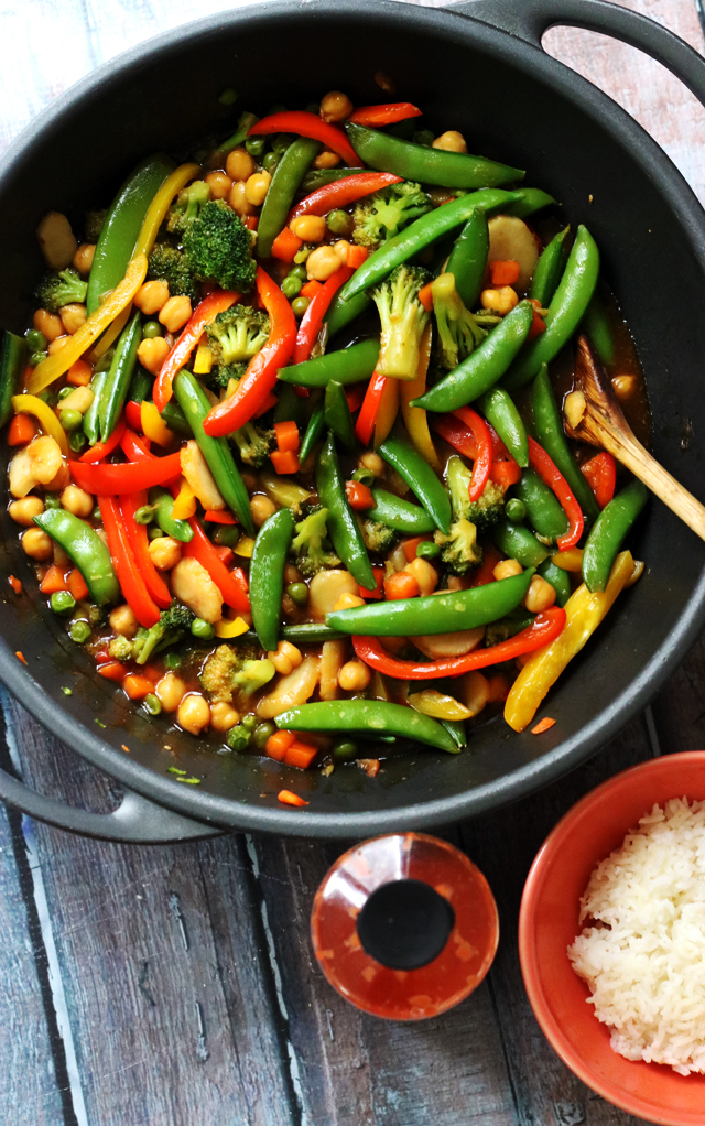 Chickpea and Vegetable Stir Fry from Eats Well With Others